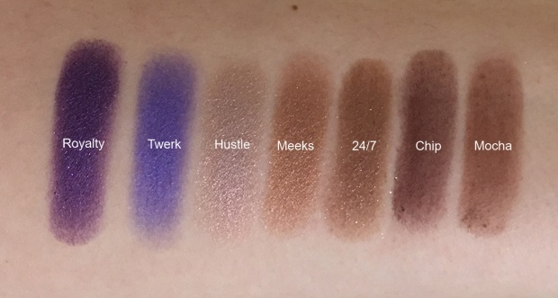 Jaclyn x Morphe row 4 swatches