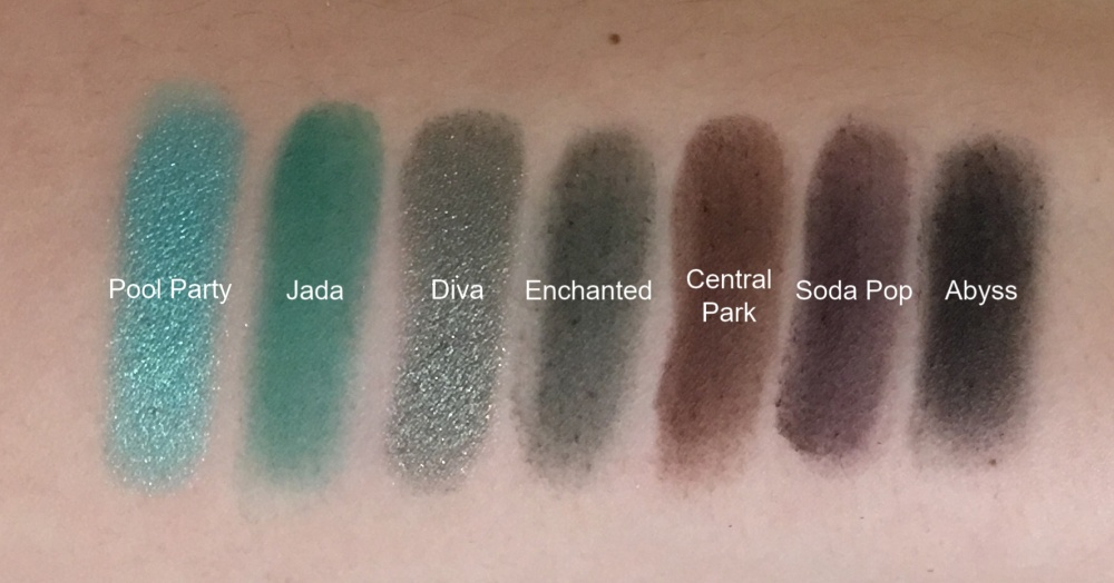 Jaclyn x Morphe row 5 swatches
