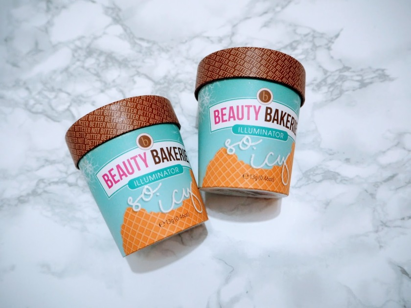Beauty Bakerie So Icy Illuminators packaging Iced Glistened