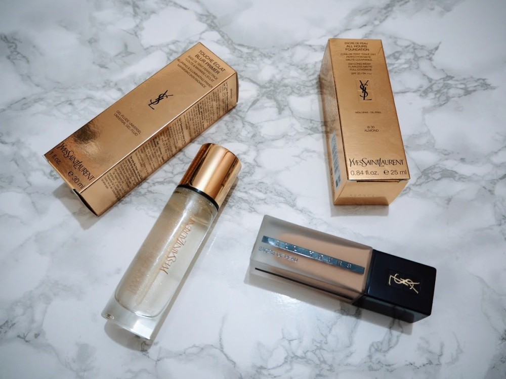 YSL Touche Éclat Blur Primer and All Hours Foundation   REVIEW