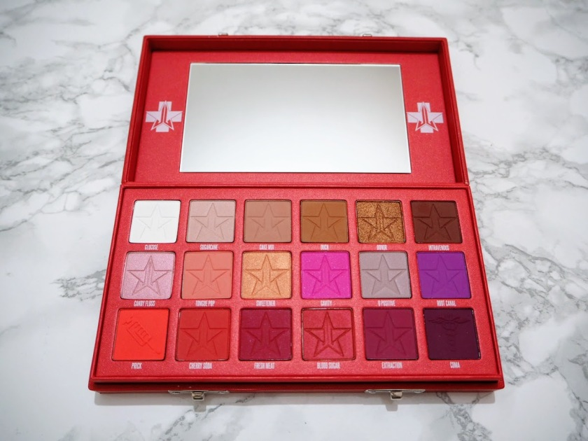 Jeffree Star Blood Sugar Palette review and swatches