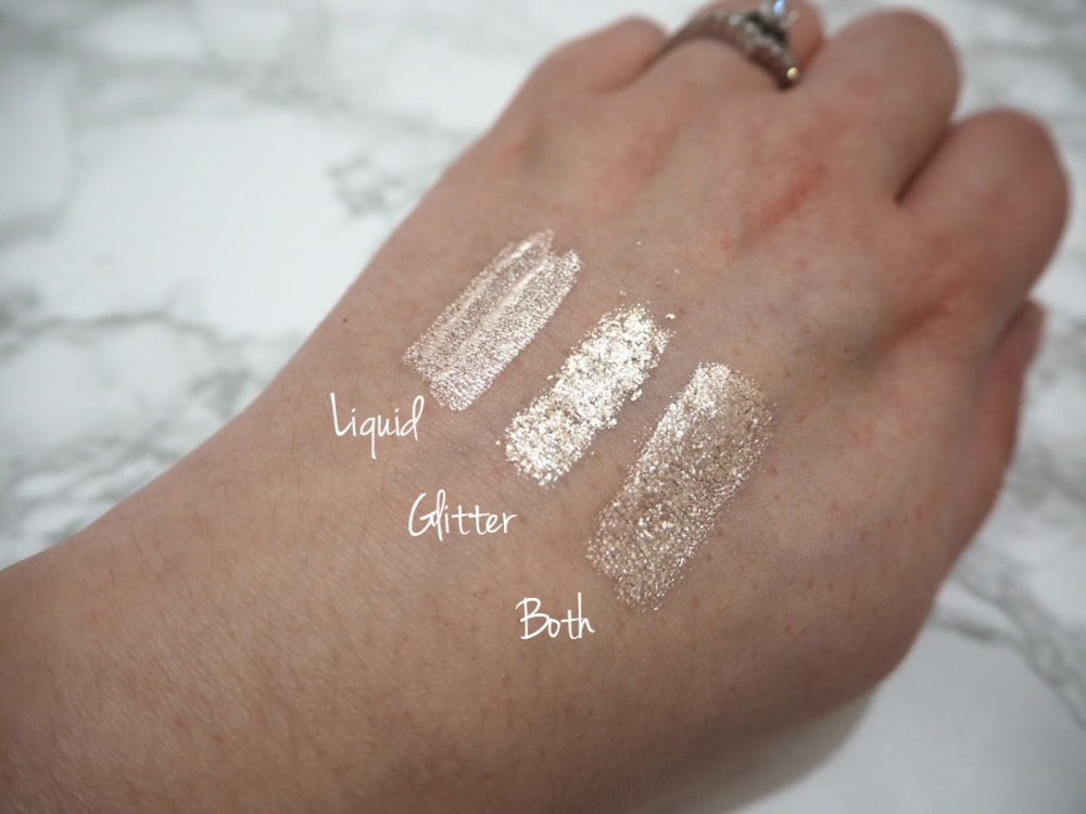 touch in SOL Metallist Liquid Foil and Glitter Shadow Duo Talia swatches
