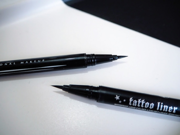 NYX Epic Ink vs Kat Von D Tattoo Liner tip