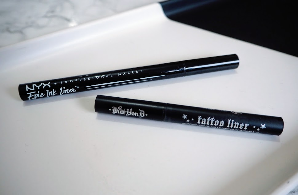NYX Epic Ink vs Kat Von D Tattoo Liner