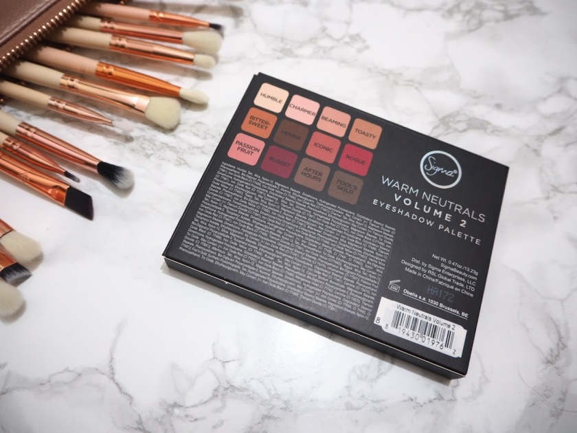 Sigma Warm Neutrals Vol 2 outer packaging back