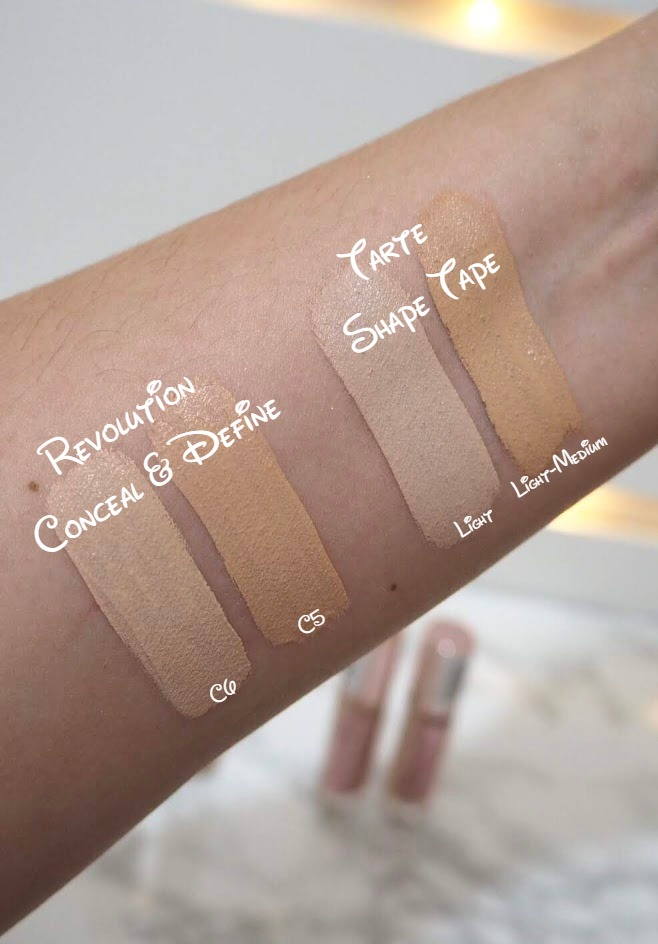 Revolution Conceal and Define Tarte Shape Tape Dupe