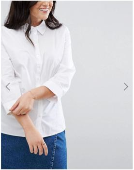 ASOS Curve white shirt